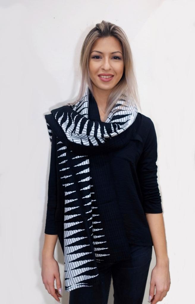 Schal schwarz weiß
