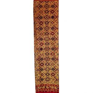 Wandbehang,Wandteppich, Läufer, rot, gold, Seide, handgewebt