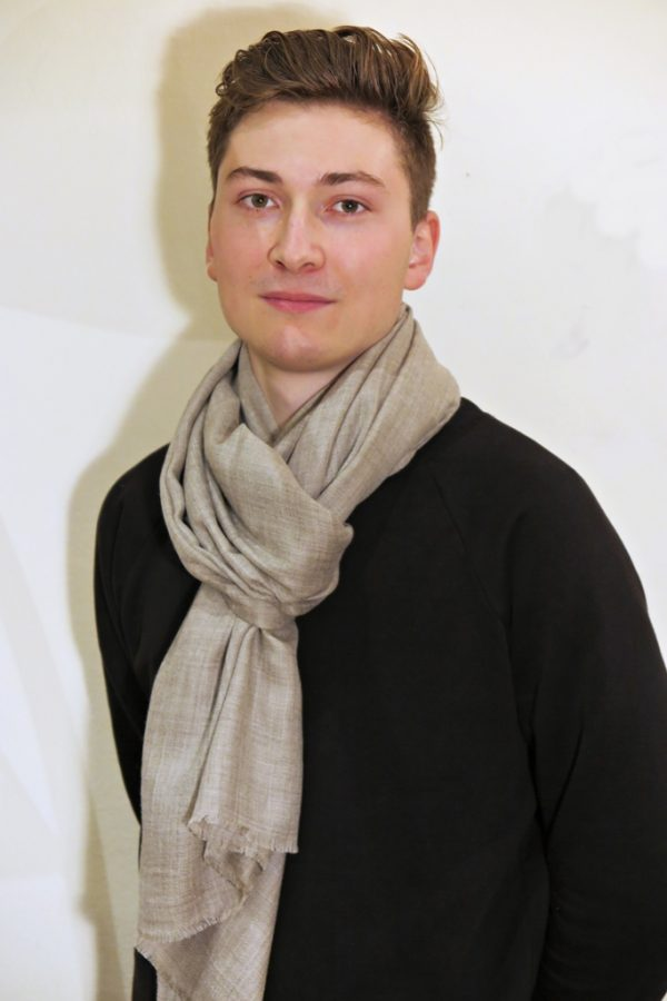 Cashmere Schal beige