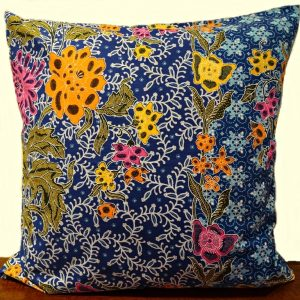Batik Kissen blau
