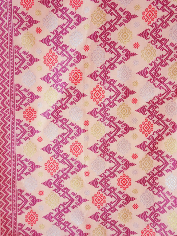 Wandteppich Songket rosa