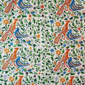 Wandteppiche Vögel handebstickt
