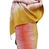 Rohseidenschal_gold_weiß_lachs_talking_textiles_1