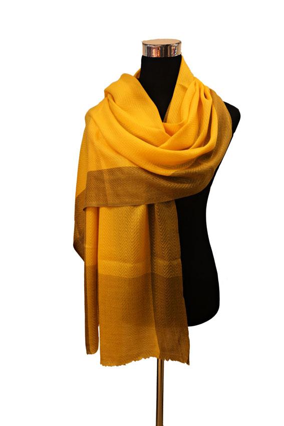 Kaschmirschal gelb