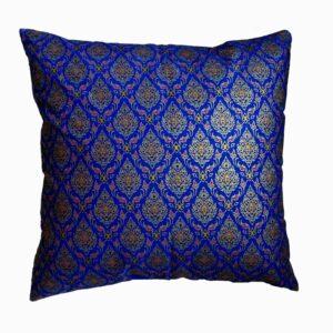 Batik kissen blau gold