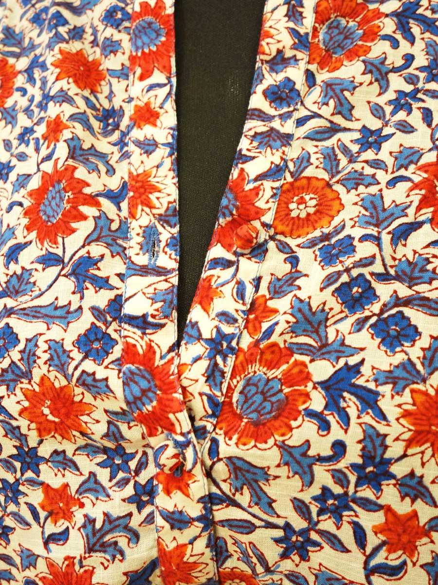 Bluse Tunika Blumen Detail