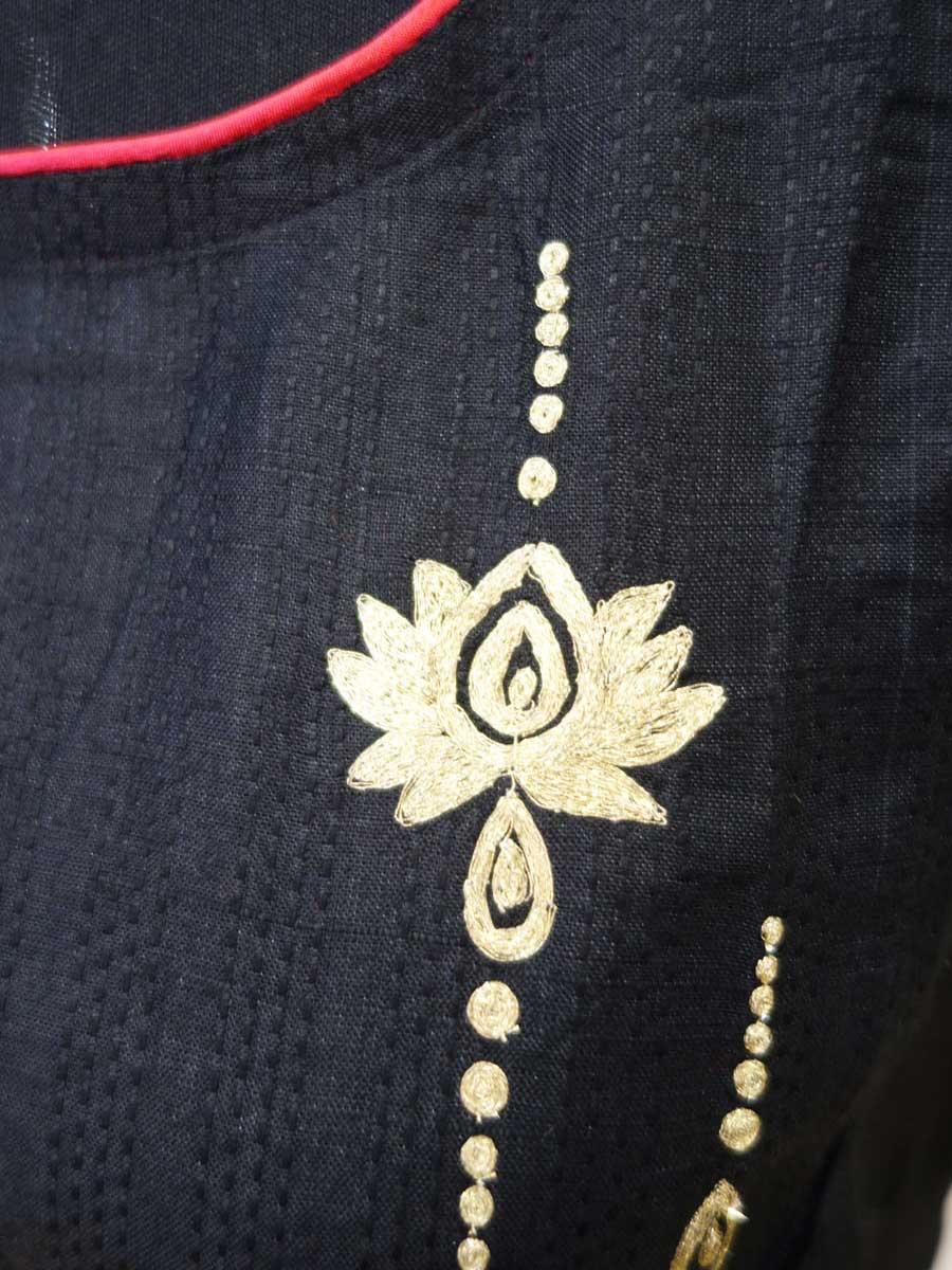 Bluse schwarz Detail