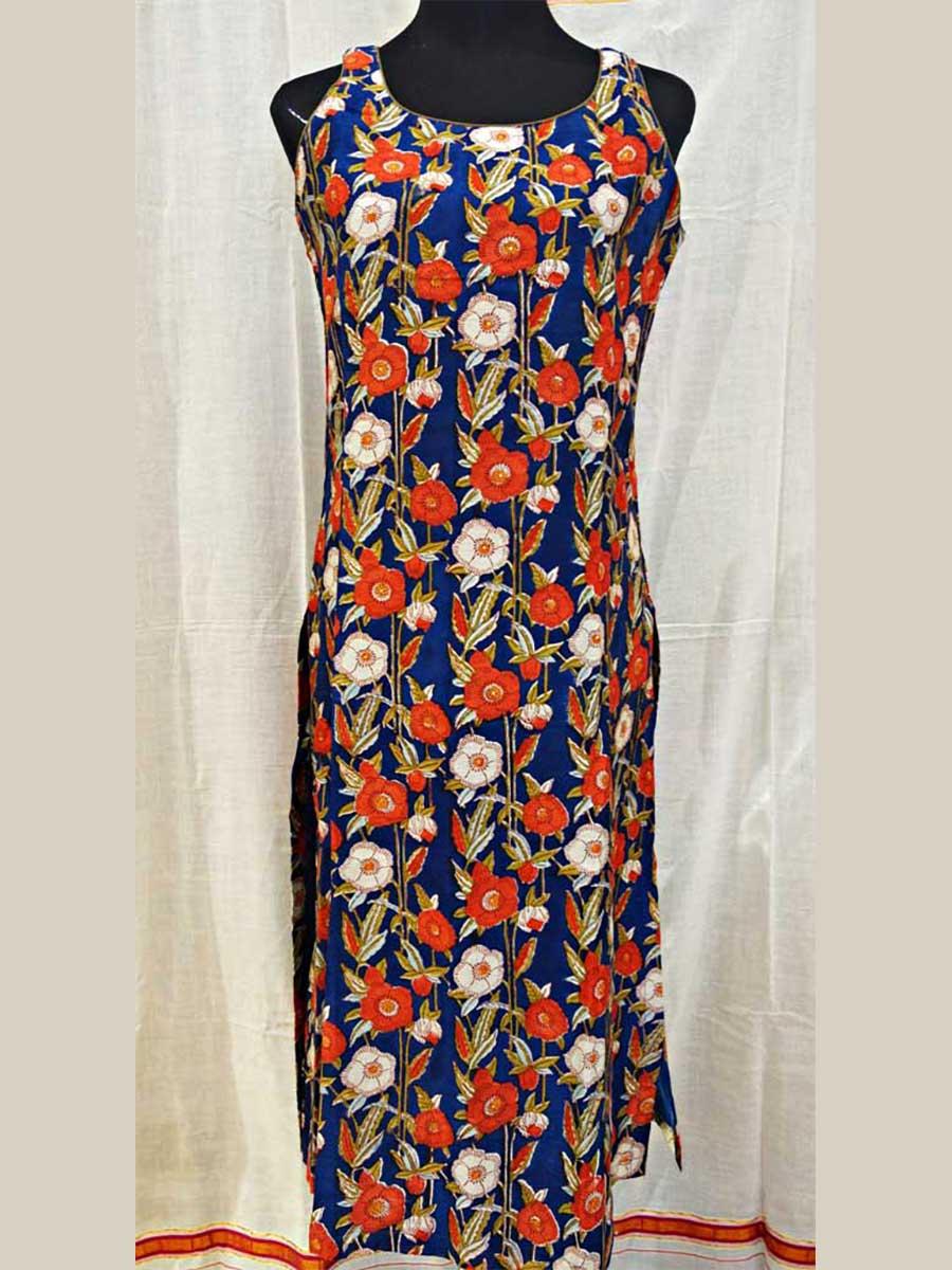 Kleid Blumen Blau