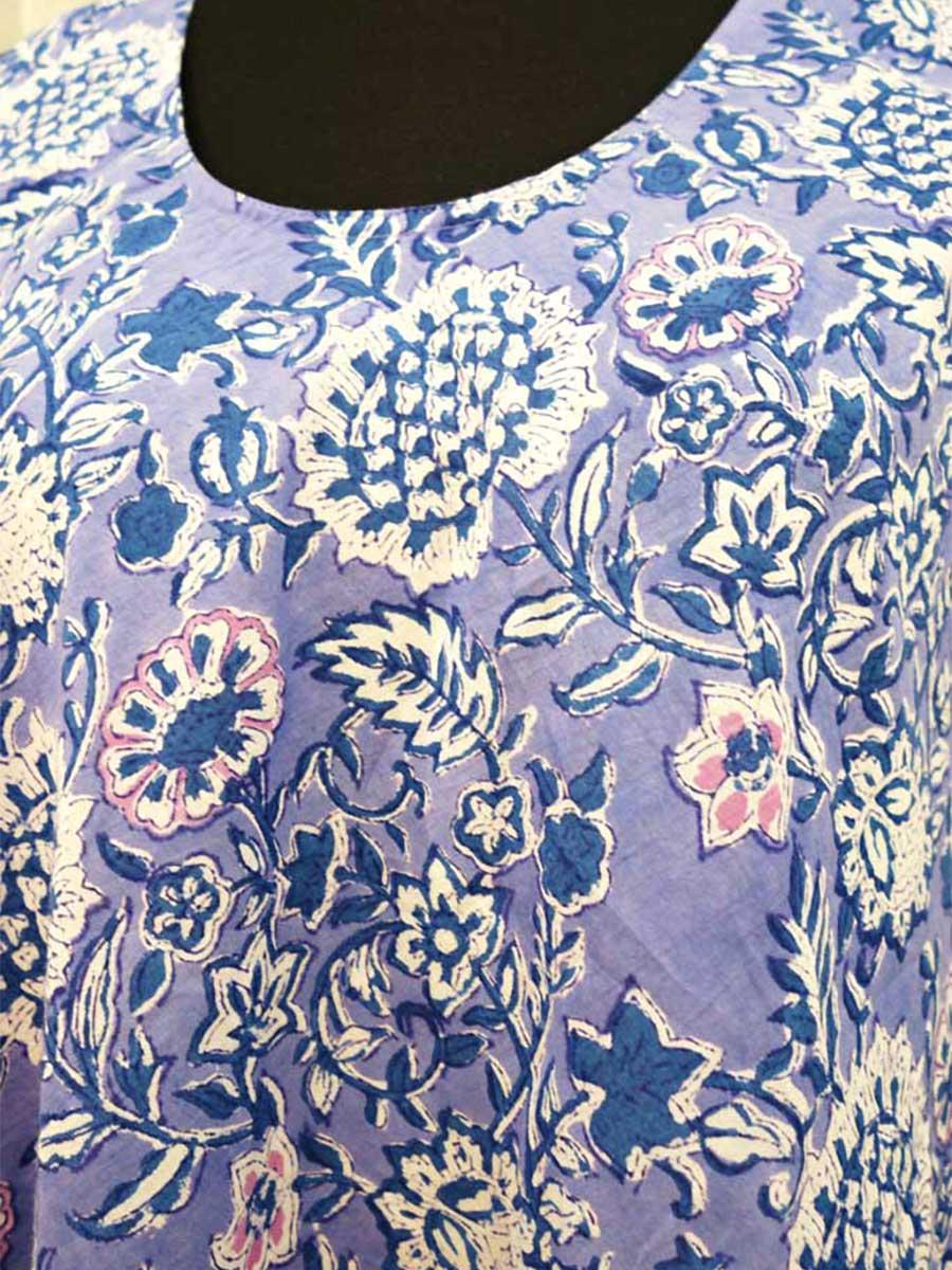 Kleid blau Detail