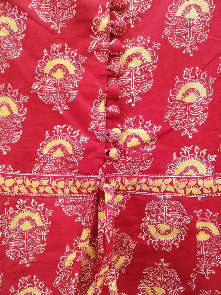 Kleid rot Detail
