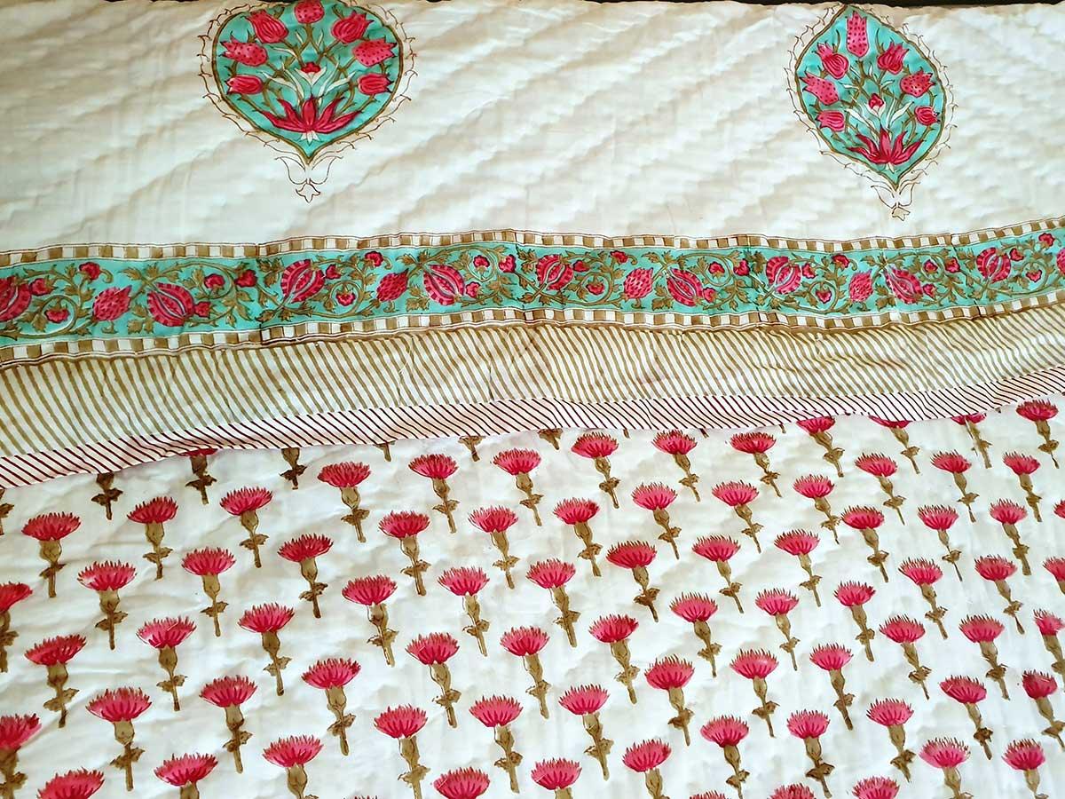 Decke weiß Blumen
